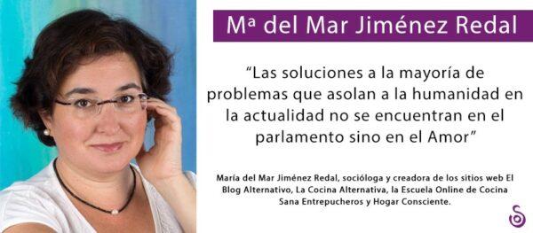 """MARÍA DEL MAR JIMÉNEZ REDAL: """"HOY PREPARAR LENTEJAS A FUEGO LENTO ES UN ACTO SUBVERSIVO"""""""